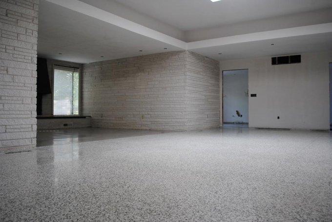 refinished terrazzo flooring