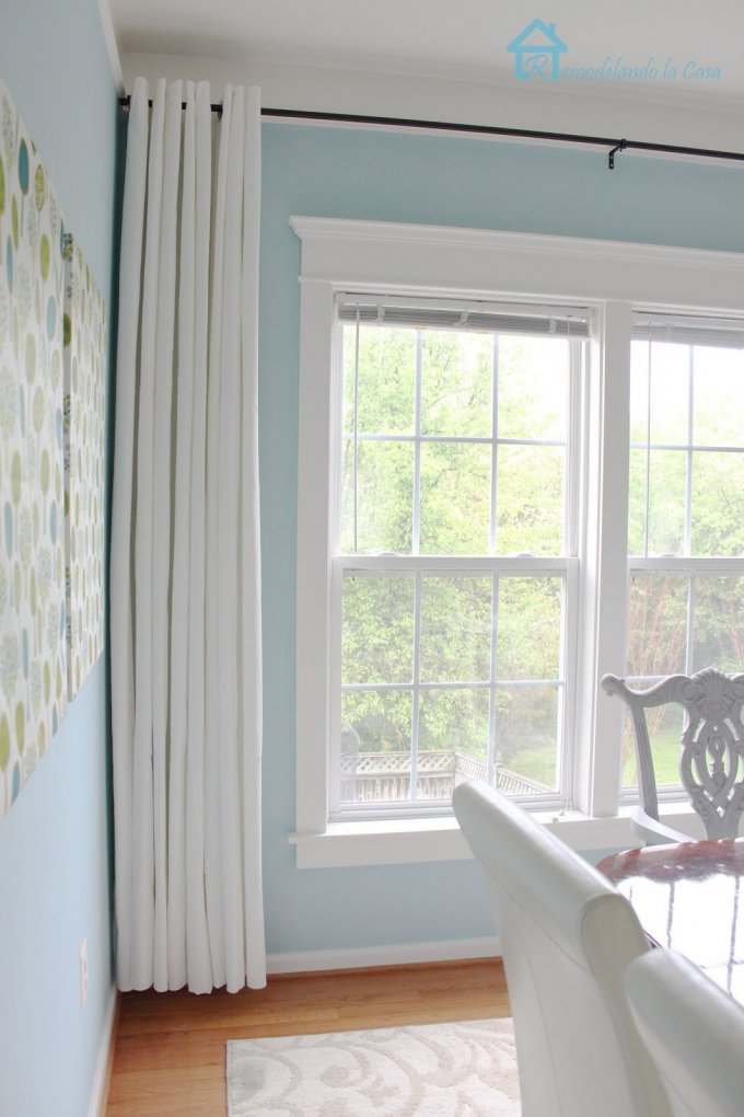 short curtains in dining room2