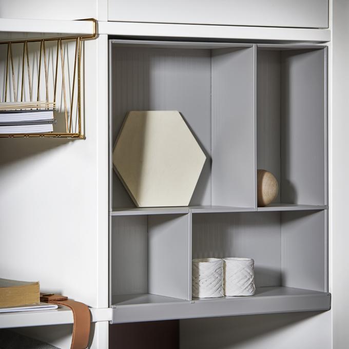 IKEA KALLAX hyllinsats ljusgra
