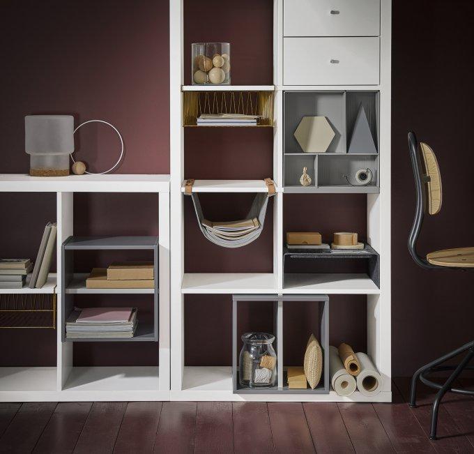 IKEA KALLAX forvarings kombination vit