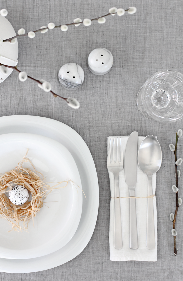 Easter table setting natural