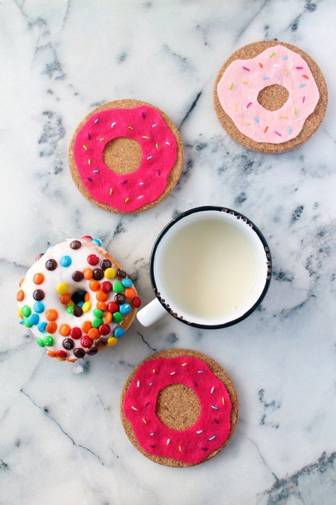 diy donut coasters