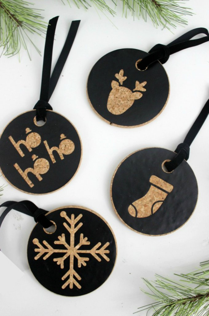 diy cork christmas ornaments