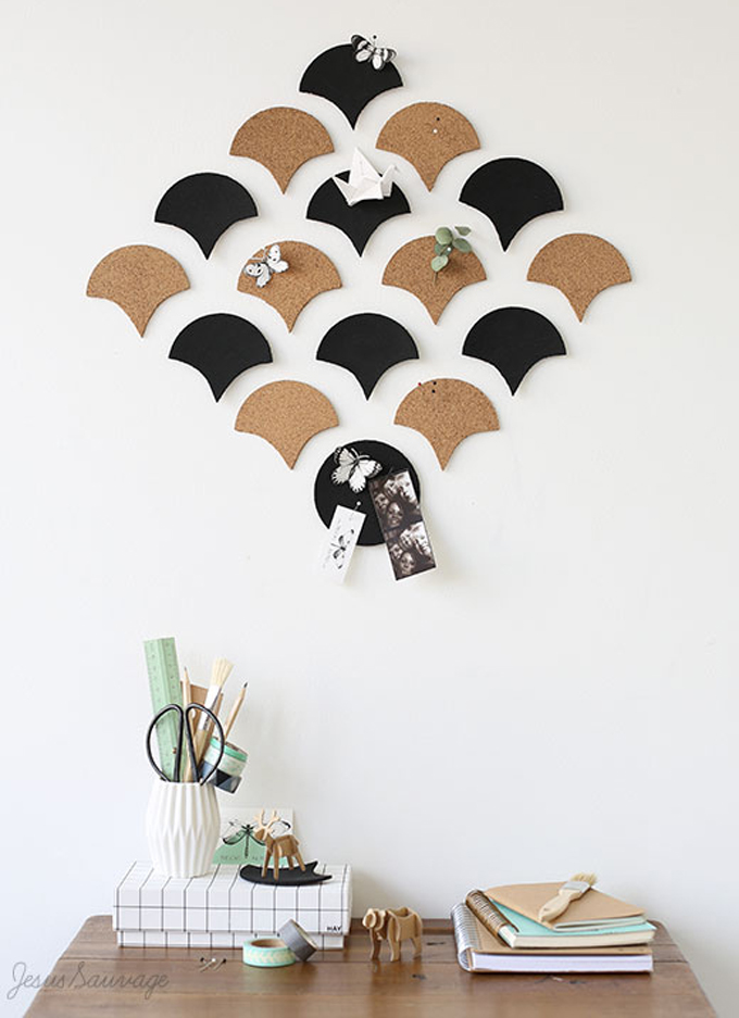 bulletin board cork diy