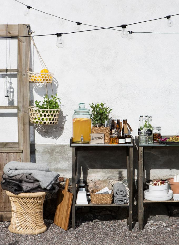 serveringsbord utomhus