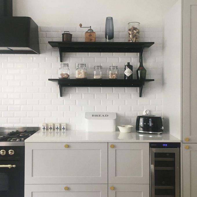 A.S.Helsingo Ensio kitchen with Parasol brass handles 2