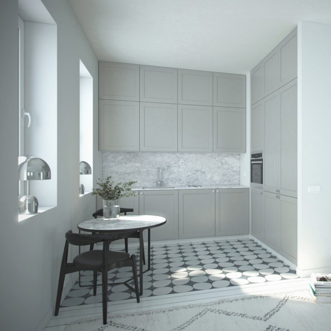 A.S.Helsingo Thermal Grey Kitchen Water Green Wardrobes 1.1