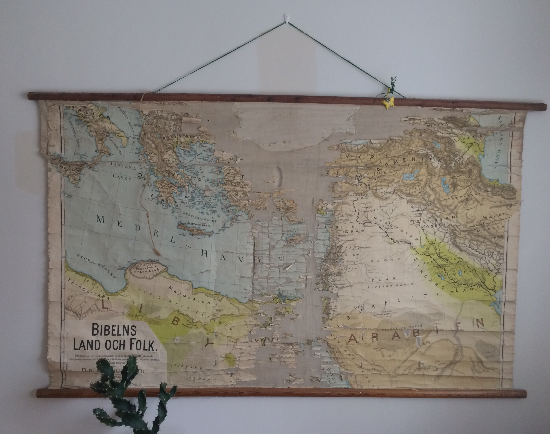karta på väggen En utredning om inredning del III — ELLEN STRÖMBERG karta på väggen