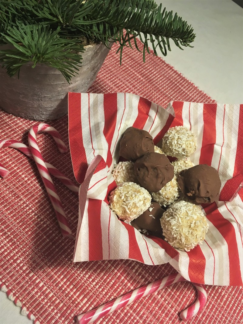 pepparkaksbollar med vit choklad