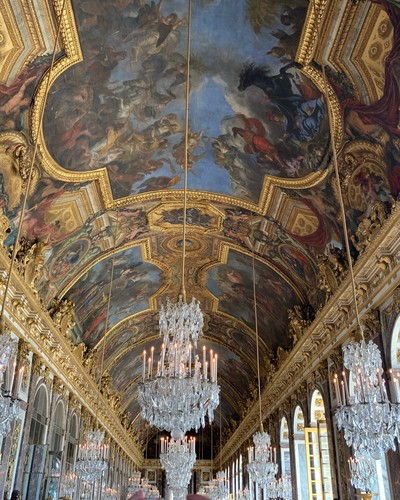 The Hall of Mirrors at Chateau de Versailles Paris By Miss P