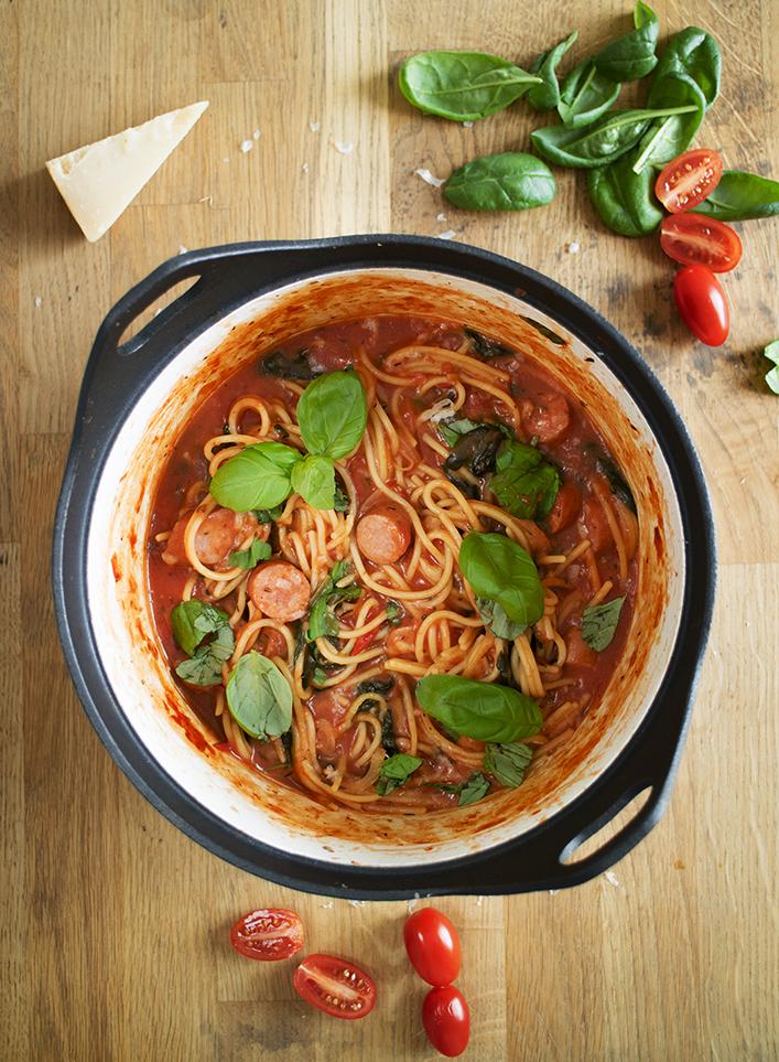 one pot pasta korv